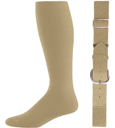 Vegas Gold Baseball Socks & Belt Combo (1 Pair of Socks & 1 Belt)