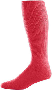 Red Baseball Game Socks