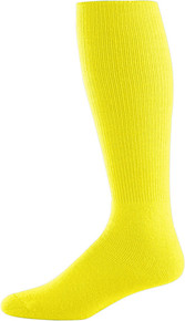 Bright Yellow Baseball Game Socks