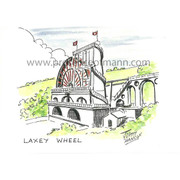 Hancox Art greetings card featuring Laxey Wheel