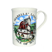 Laxey Wheel Tall Opal China Mug