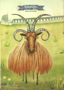 Loaghtan Sheep greetings card by Kasia Mirska