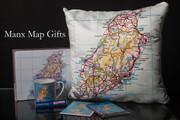 Isle of Man Map Cushion