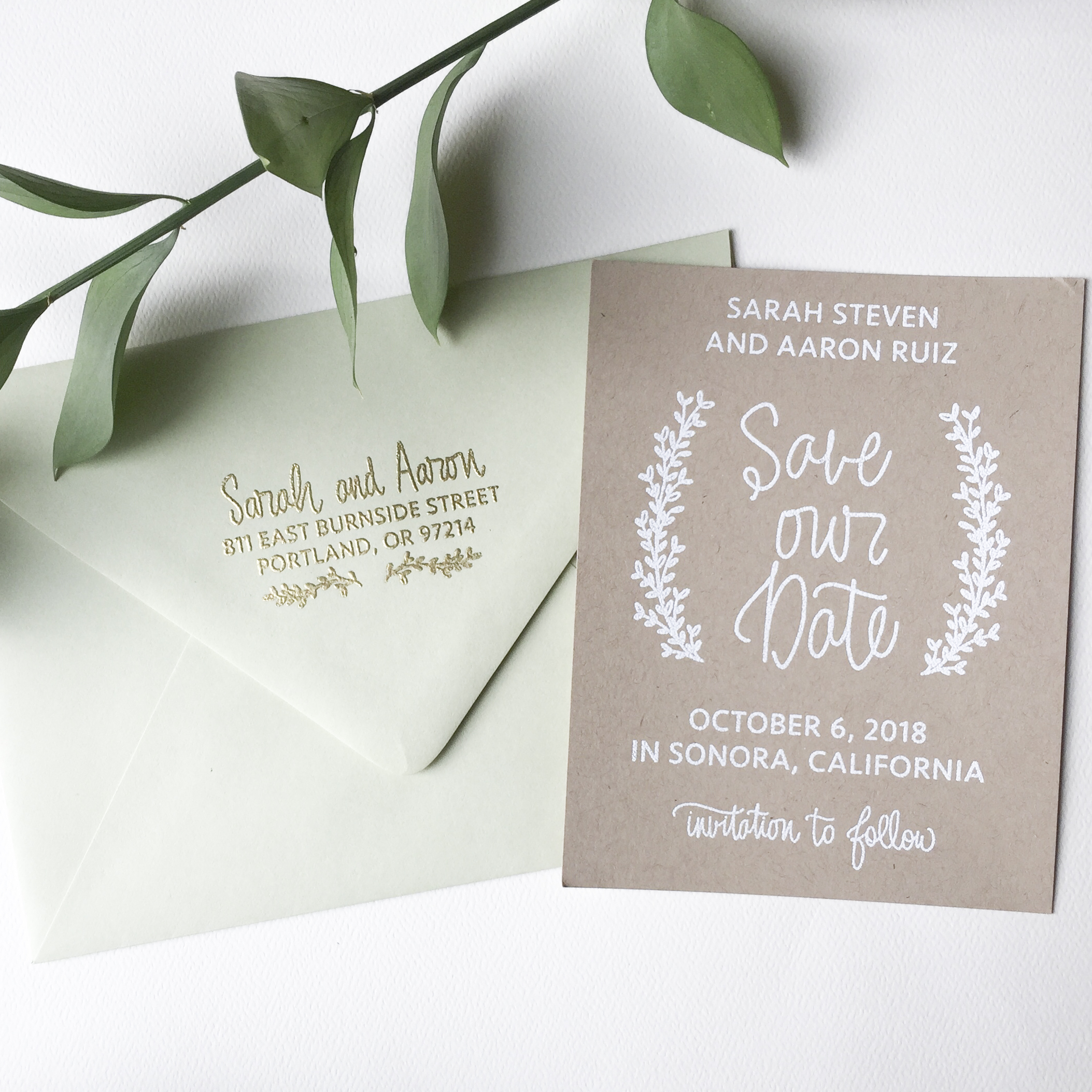 DIY Stamped Save the Dates