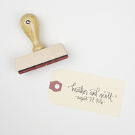 Wedding Calligraphy Stamp - Modern
