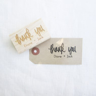 Wedding Favor Stamp - Thank You - Brush Lettering