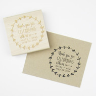 Thank You Stamp - Laurel Wreath