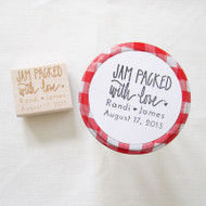 Wedding Favor Stamp - Jam Packed With Love