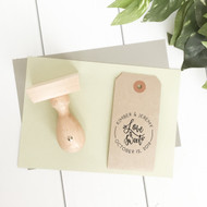 Love is Sweet personalized wedding favor stamp by Paper Sushi