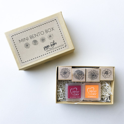 Floral Bento Box - mini rubber stamp set by Paper Sushi