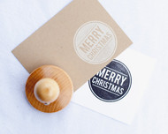 Modern Merry Christmas Stamp