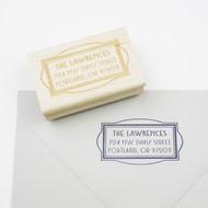 Art Deco Frame Address Stamp