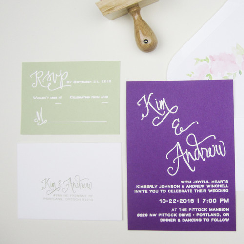 Paper Sushi Wedding Invitation Stamp Suite Calligraphy