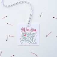 Gift Tags - With Love from Oregon Heart