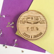 Wood Save the Date Magnets - Banner (Set of 10)