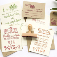 Wedding Invitation Stamp Suite - Wildflower