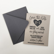 Save the Date Stamp - Carved Heart