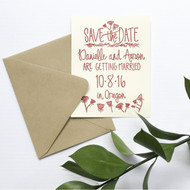 Save the Date Stamp - Wildflower