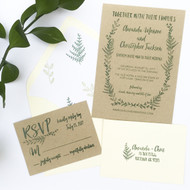 Wedding Invitation Stamp Suite - Fern