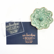 Wedding Favor Stamp - Our Love Shines Bright