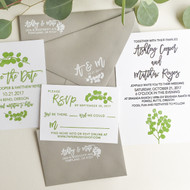 Wedding Invitation Stamp Suite - Eucalyptus