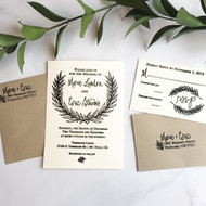 Winter wreath Wedding Invitation Stamp Suite by Paper Sushi