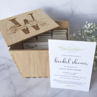 Bridal Shower Invitation and Recipe Box Set