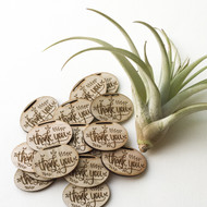 Mini Wood Thank You Tags - Set of 25