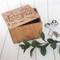 Herbs handmade wood recipe box by Paper Sushi