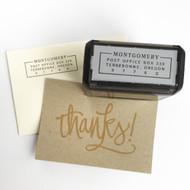 Modern Boxed Address Stamp