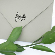 Fragile hand lettered rubber stamp by Paper Sushi.