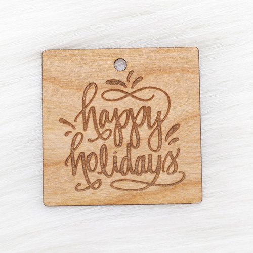 Real wood veneer gift tags with paper backing by Paper Sushi #giftwrap #happyholidays #woodtags