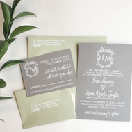 Wedding Invitation Stamp Suite - Succulent