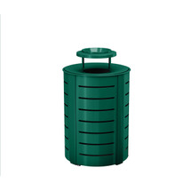 Suncast Metal Trash Can - Metal Lid - Dark Green