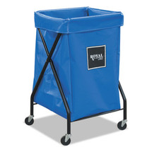 Royal 6 Bushel X-Frame Cart with Vinyl Bag, 20 x 22 x 36, 150 lbs. Capacity, Blue