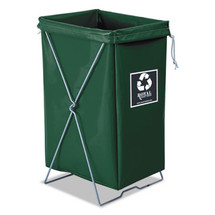 Royal Enviro Hamper, Hamper Bag and Stand, 30 gal, 15w x 16d x 30h, Green