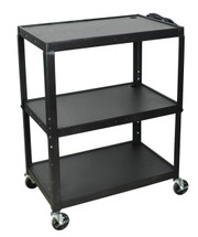 Luxor Extra Wide Presentation Cart BLACK AVJ42XL