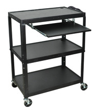 Luxor Extra Wide Presentation Cart BLACK AVJ42XLKB