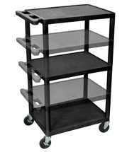 Luxor Presentation Cart BLACK LPDUOE-B