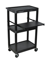 Luxor Presentation Cart BLACK LT45-B