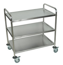 Luxor Stainless Steel Cart SILVER ST-3