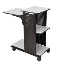 H Wilson Presentation Cart BLACK FRAME/ LIGHT GRAY SURFACE WPS4