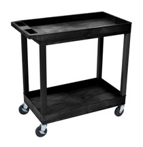 Luxor Two Shelf Utility Cart EC11-B