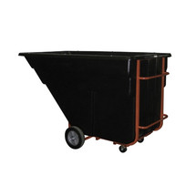 Rubbermaid Commercial Rotomolded Tilt Truck, Rectangular, Plastic, 1200-lb Cap., Black