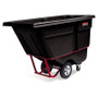 Rubbermaid Commercial Rotomolded Tilt Truck, Rectangular, Plastic, 850-lb Cap., Black