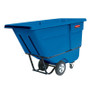 Rubbermaid Commercial Rotomolded Tilt Truck, Rectangular, Plastic, 1250-lb Cap., Blue