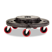 Rubbermaid Commercial Brute Quiet Dolly, 250lb Cap, 18 1/4 dia. x 6 5/8h, Black