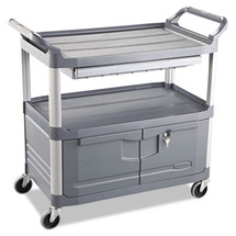 Rubbermaid Commercial Xtra Instrument Cart, 300-lb Cap., 3 Shelves, 20w x 40 5/8d x 37 4/5h, Gray