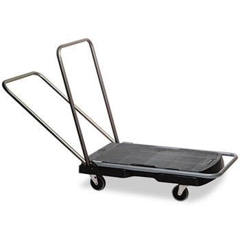 Rubbermaid Commercial Utility-Duty Home/Office Cart, 250lb Cap, 20-7/8 x 31-3/4 Platform, Black