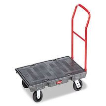 Rubbermaid Commercial Heavy-Duty Platform Truck Cartlb Capacity, 24 x 48 Platform, Black